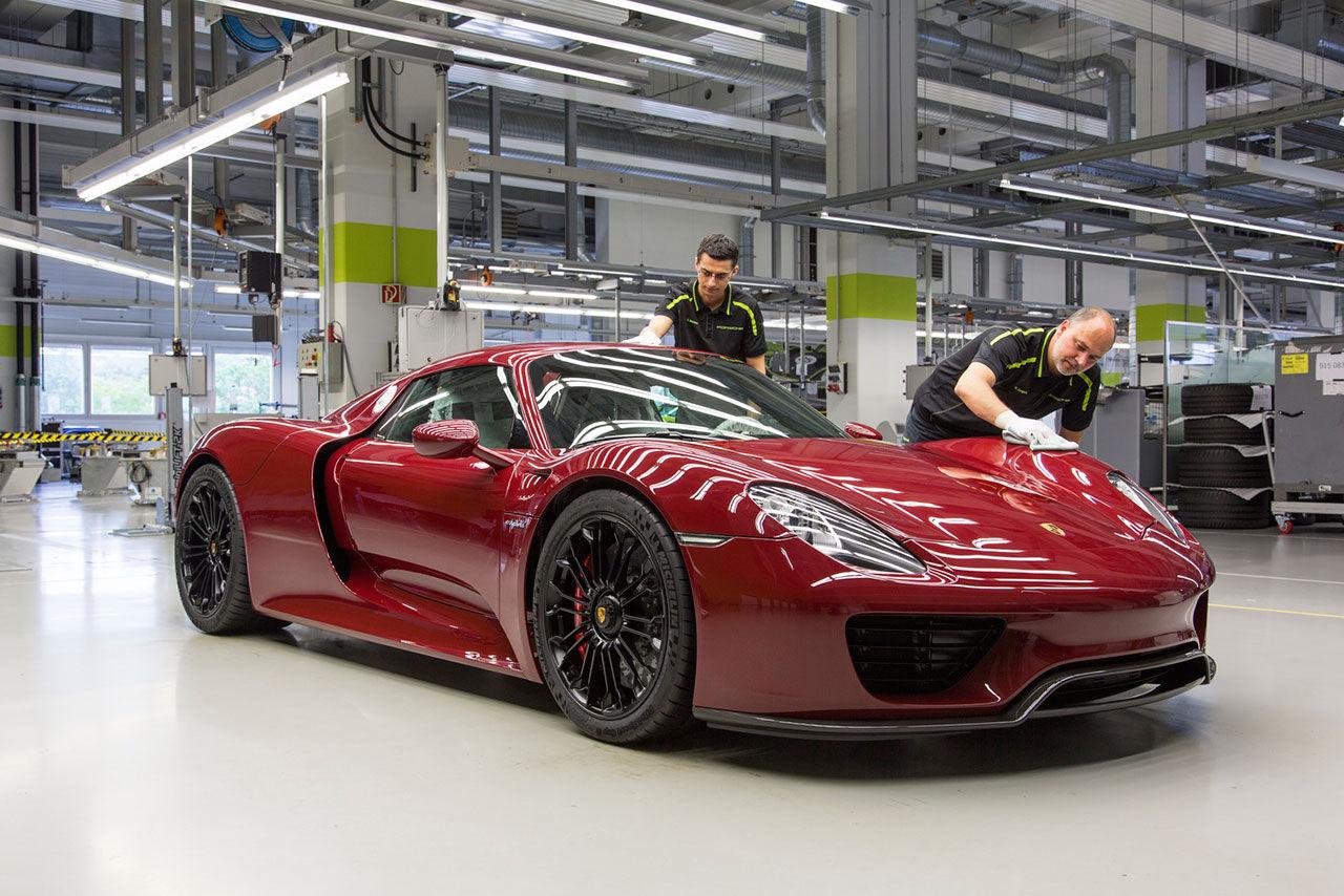 Produktionen av Porsche 918 Spyder är över