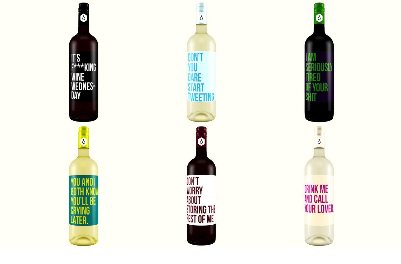 Om vinflaskor var ärliga