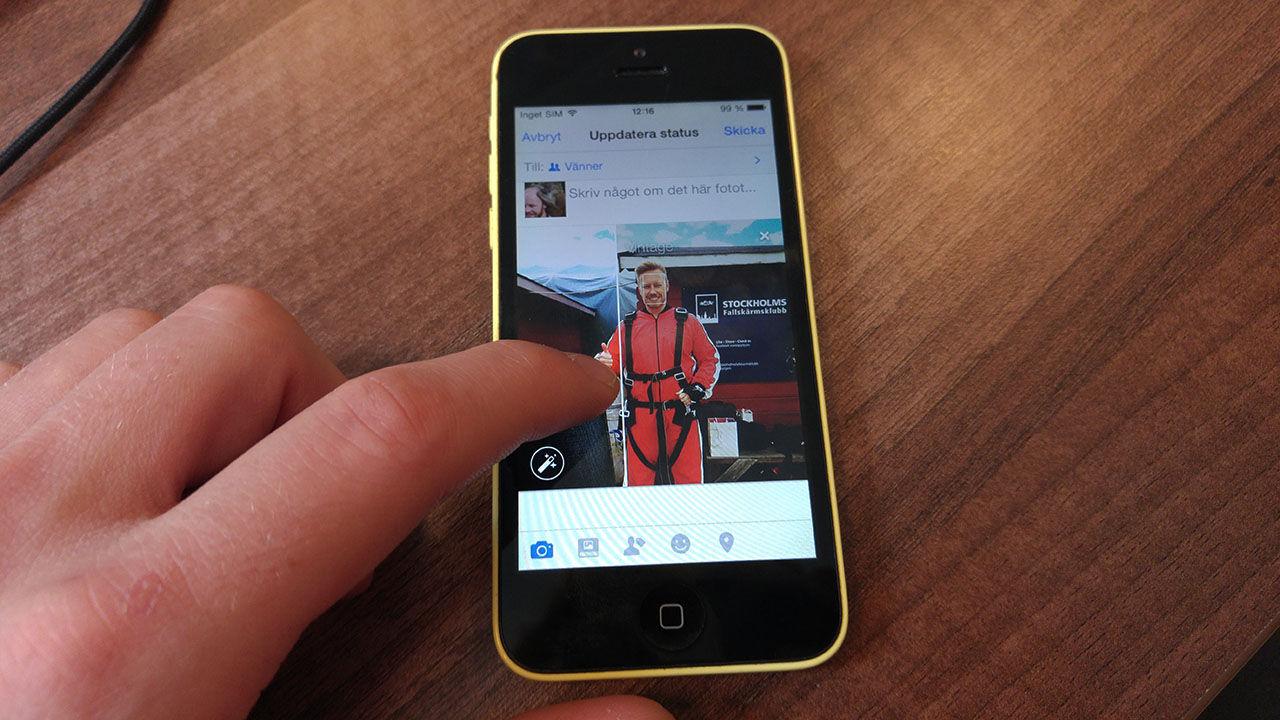 Facebook uppdaterar bilduppladdningen i iOS-appen