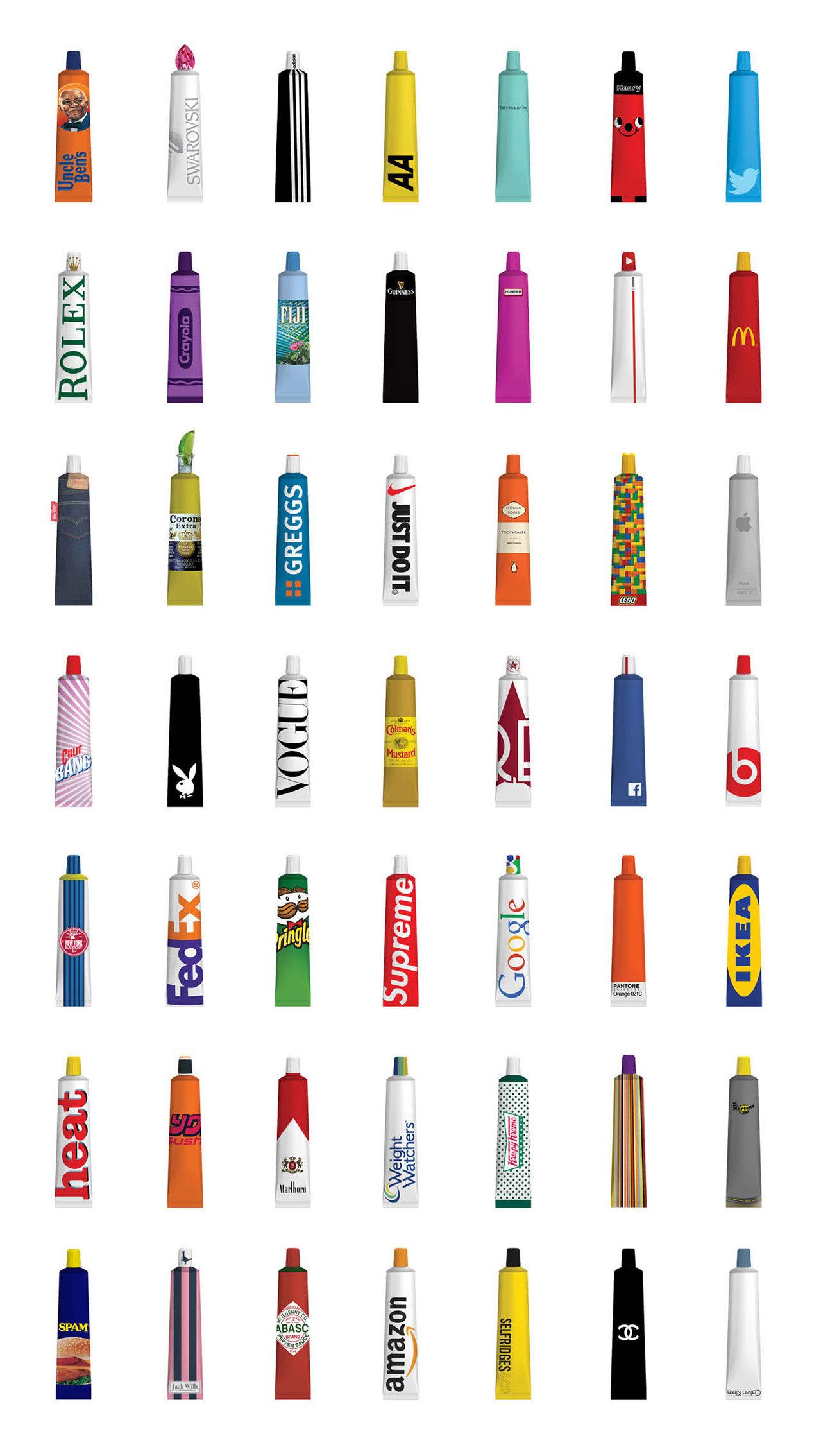 Om olika varumärken skulle göra tandkräm
