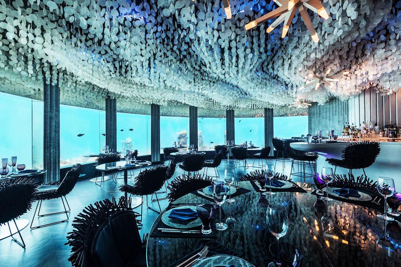Här kan du äta under vattnet