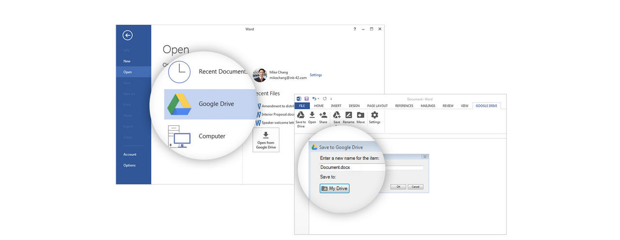 Google Drive-plugin till Microsoft Office