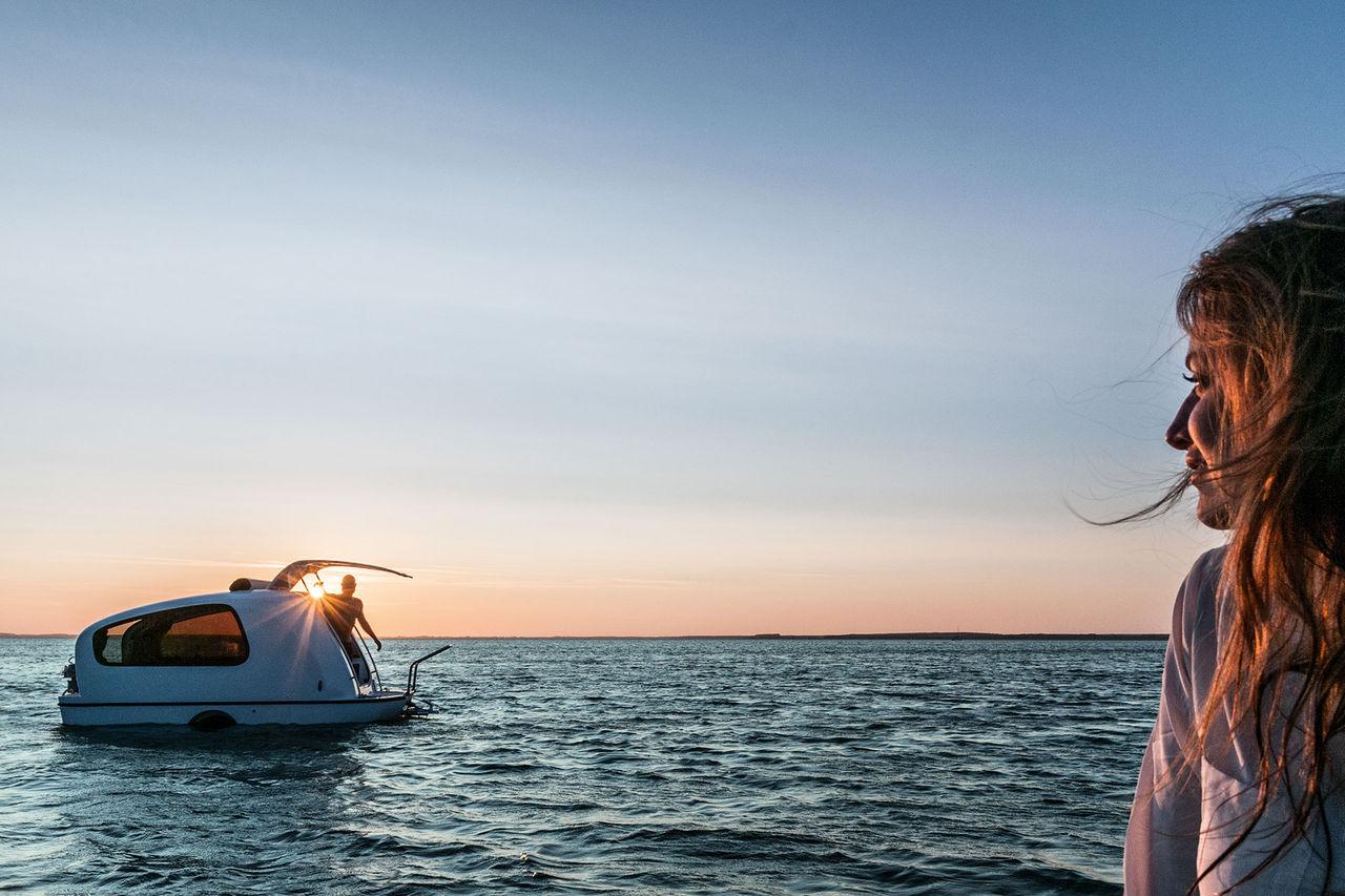 Husvagnen som också är en båt
