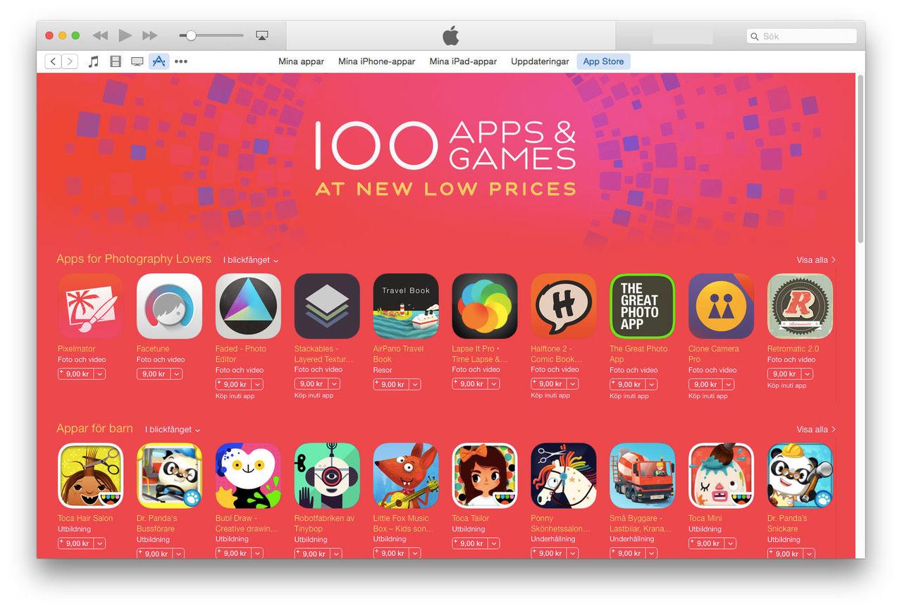 Sommarrea på App Store