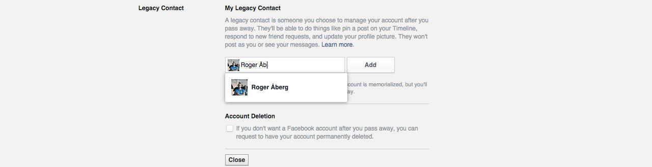 Nu kan du låta någon annan ta över ditt Facebook  när du dör