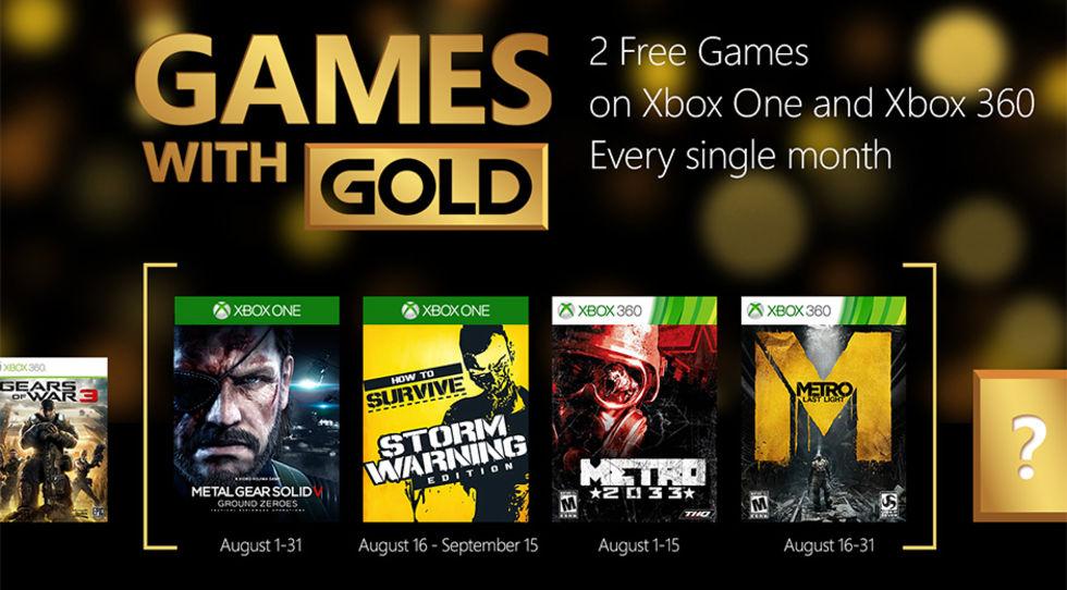 Nästa månads Games with Gold-erbjudande