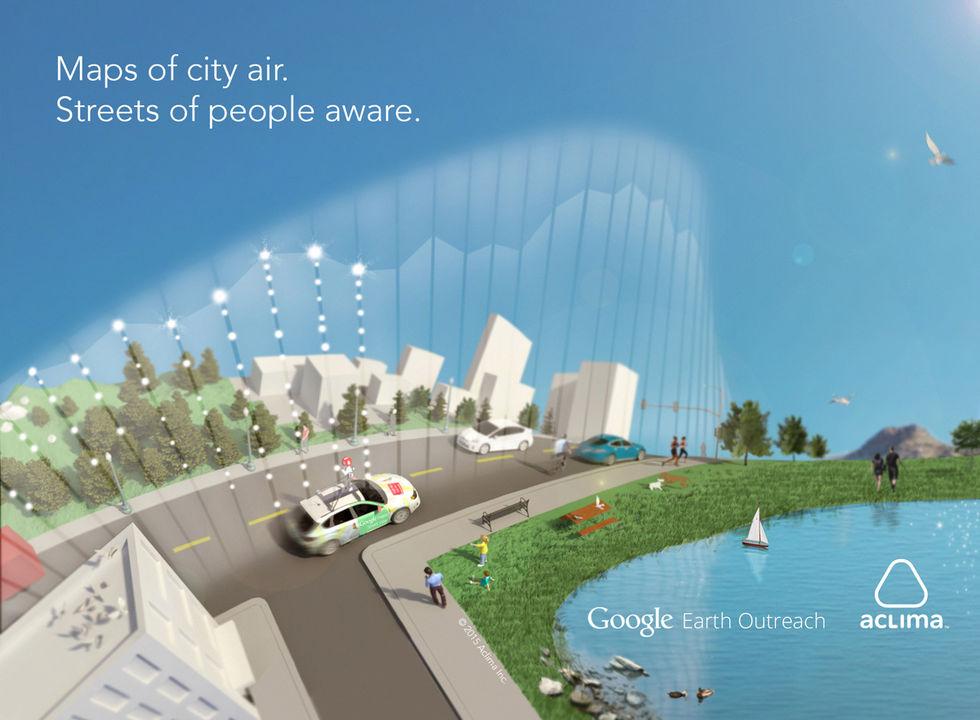Google börjar mäta luftkvaliteten