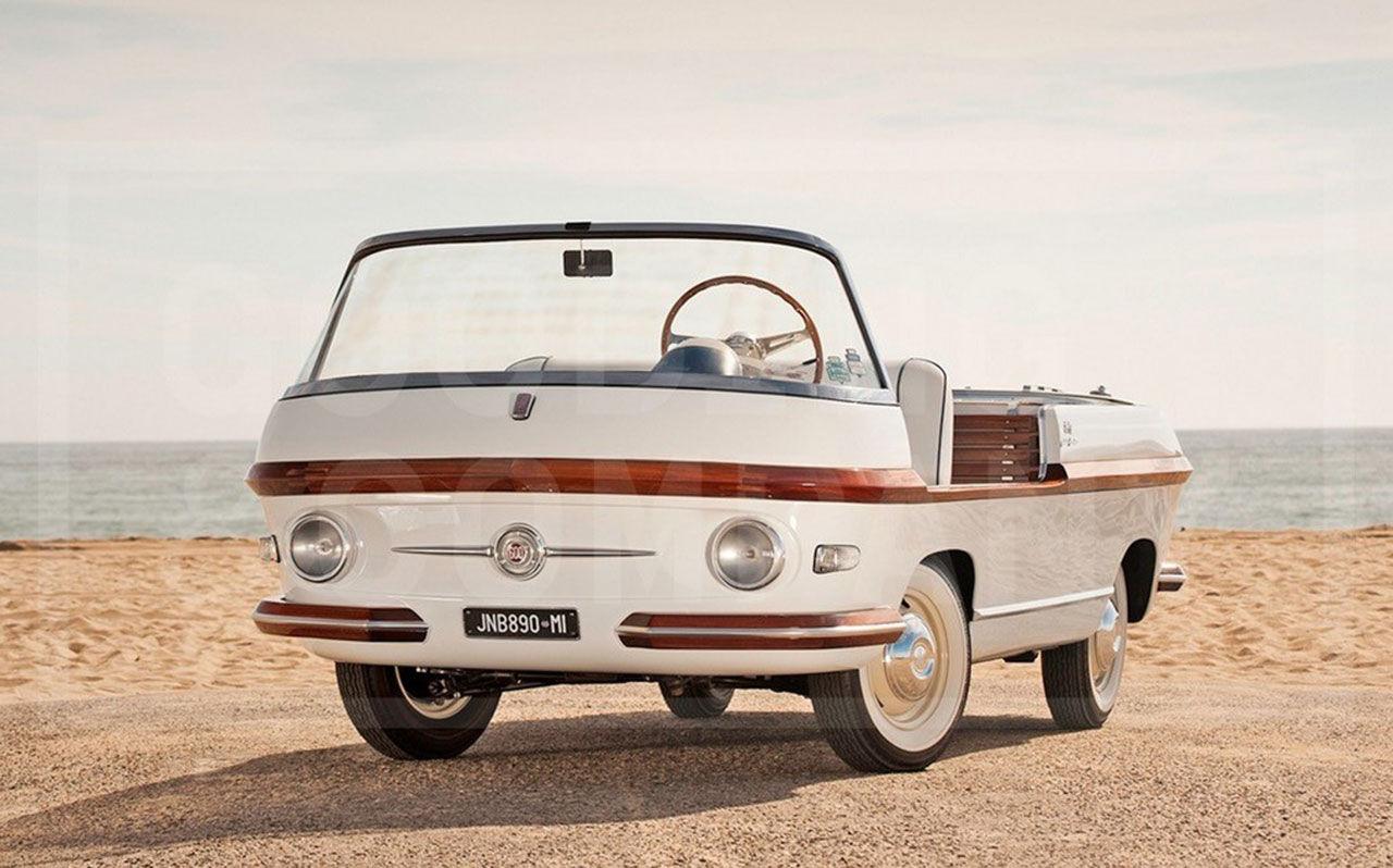 Coola strandbilen Fiat Eden Roc auktioneras ut