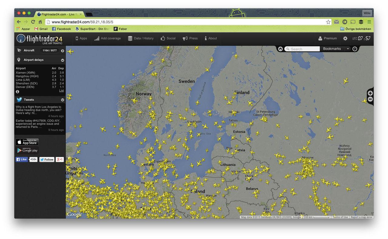 Flightradar 24 ökar täckningen