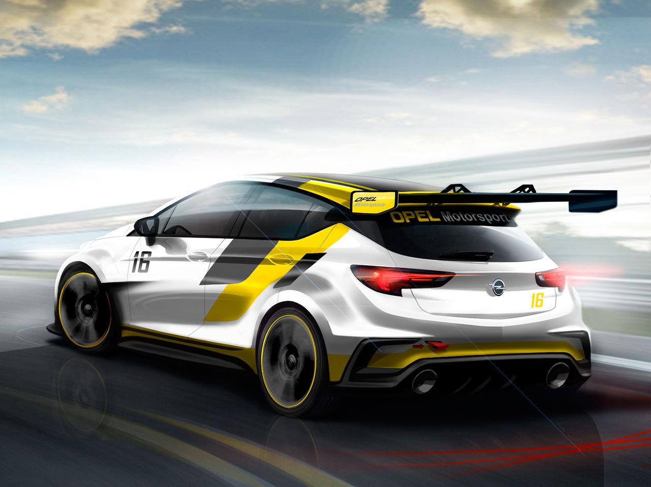 Opel visar renderingar på Astra TCR