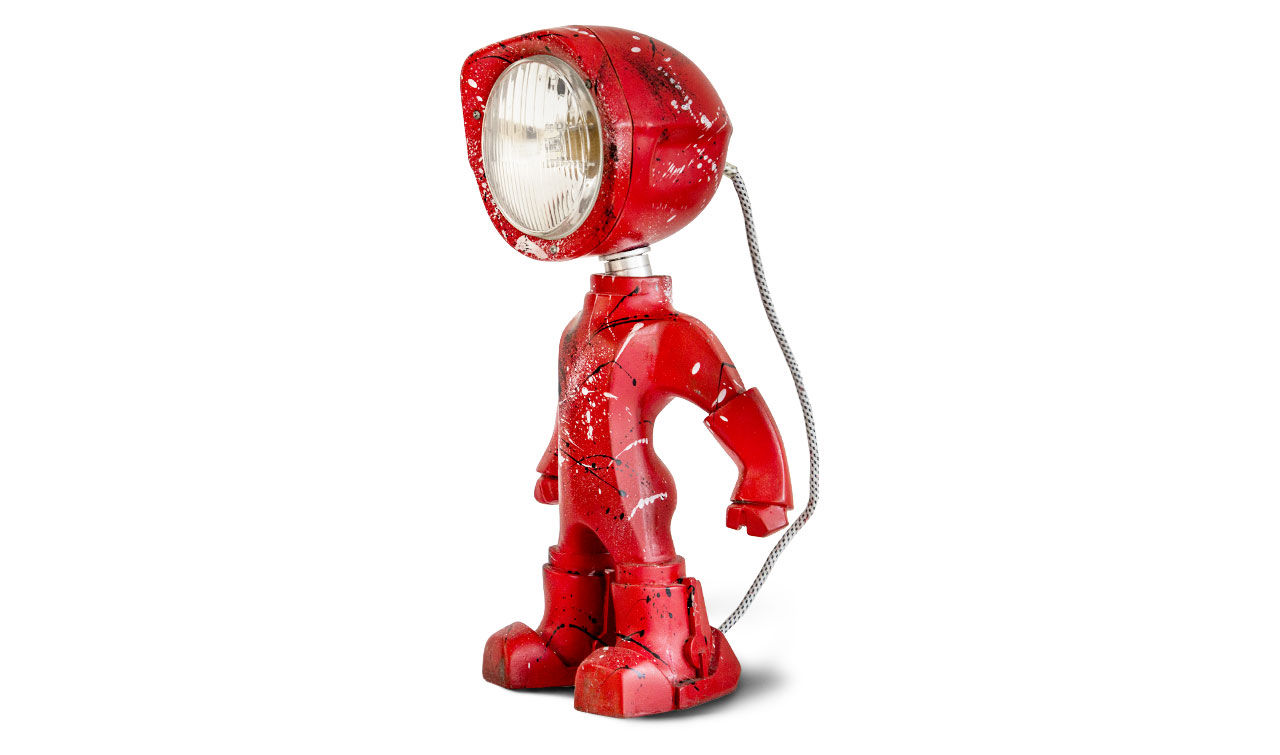 Liten lampa med karaktär