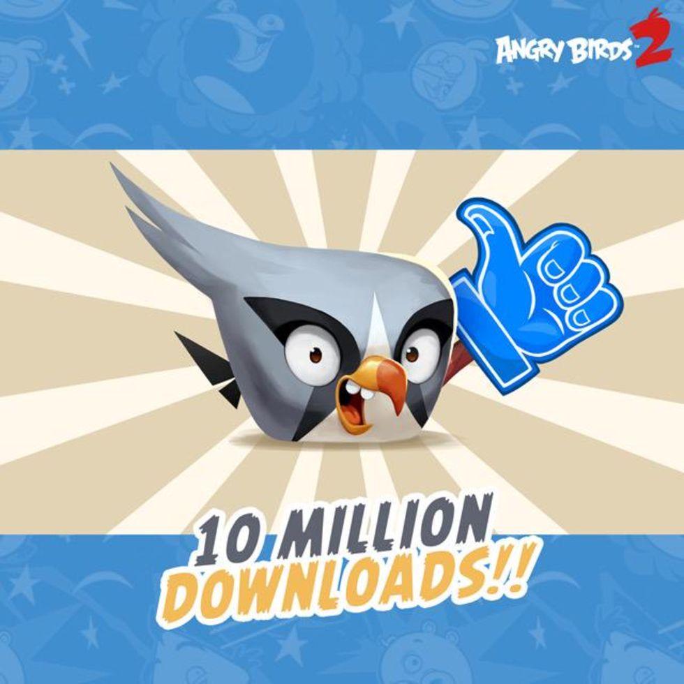 Angry Birds 2 nedladdat 10 miljoner gånger
