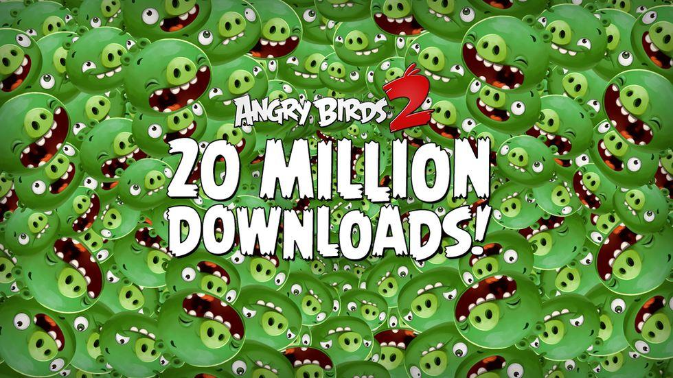 Angry Birds 2 nedladdat 20 miljoner gånger