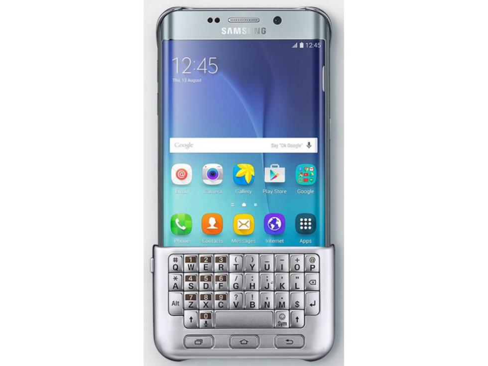 Det ryktas om ett tangentbord till Galaxy S6 Edge plus. Det ser ut ... 87abdb81054df