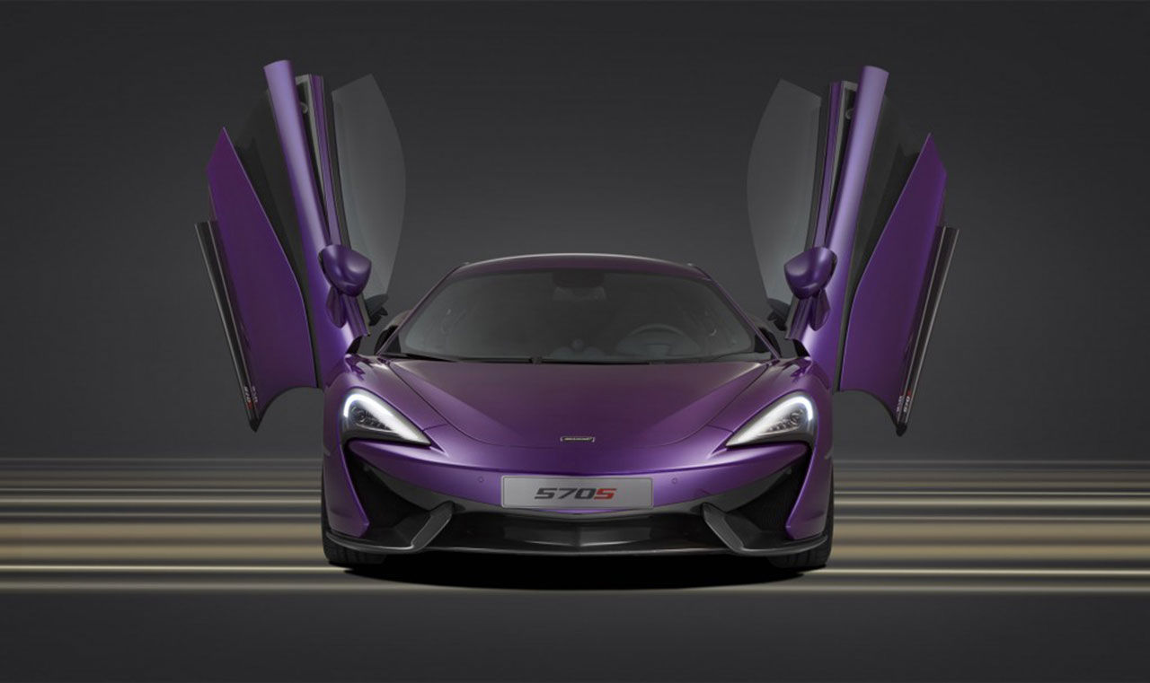 McLaren MSO presenterar en lila 570S