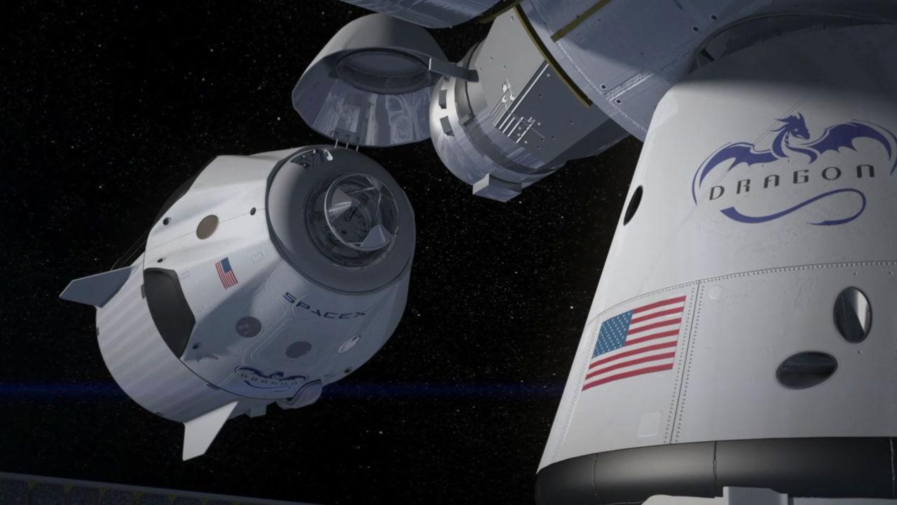 SpaceX har simulerat en flygning med  bemannad rymdkapsel