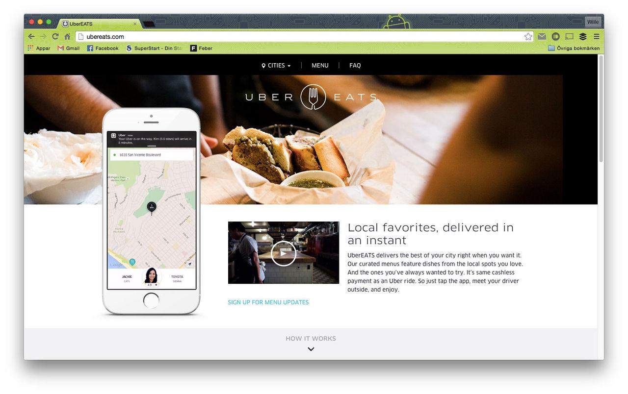 Uber startar UberEATS i San Francisco