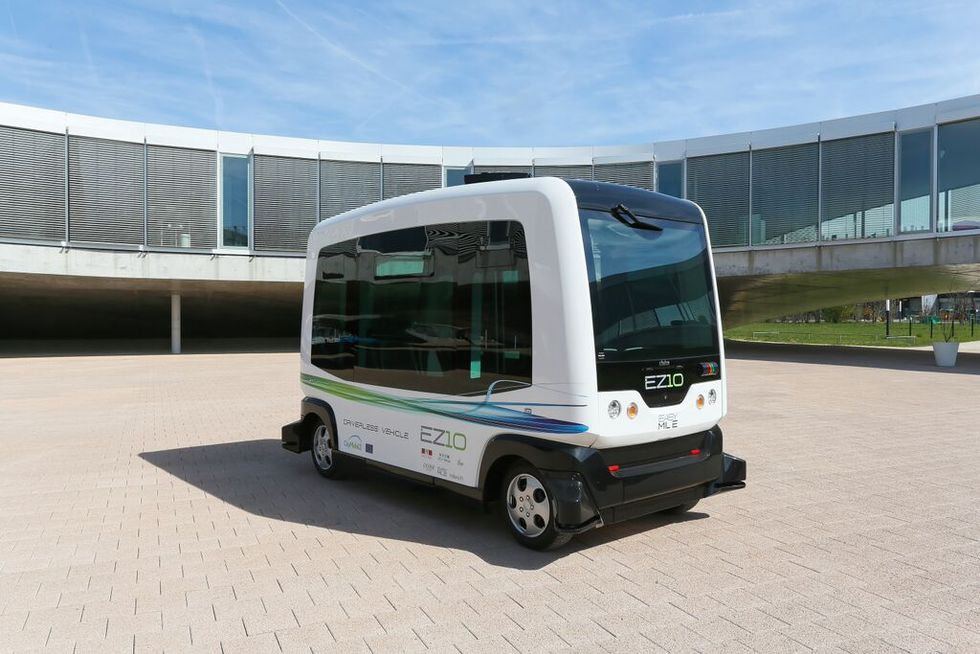 WePods är självkörande bussar i Nederländerna