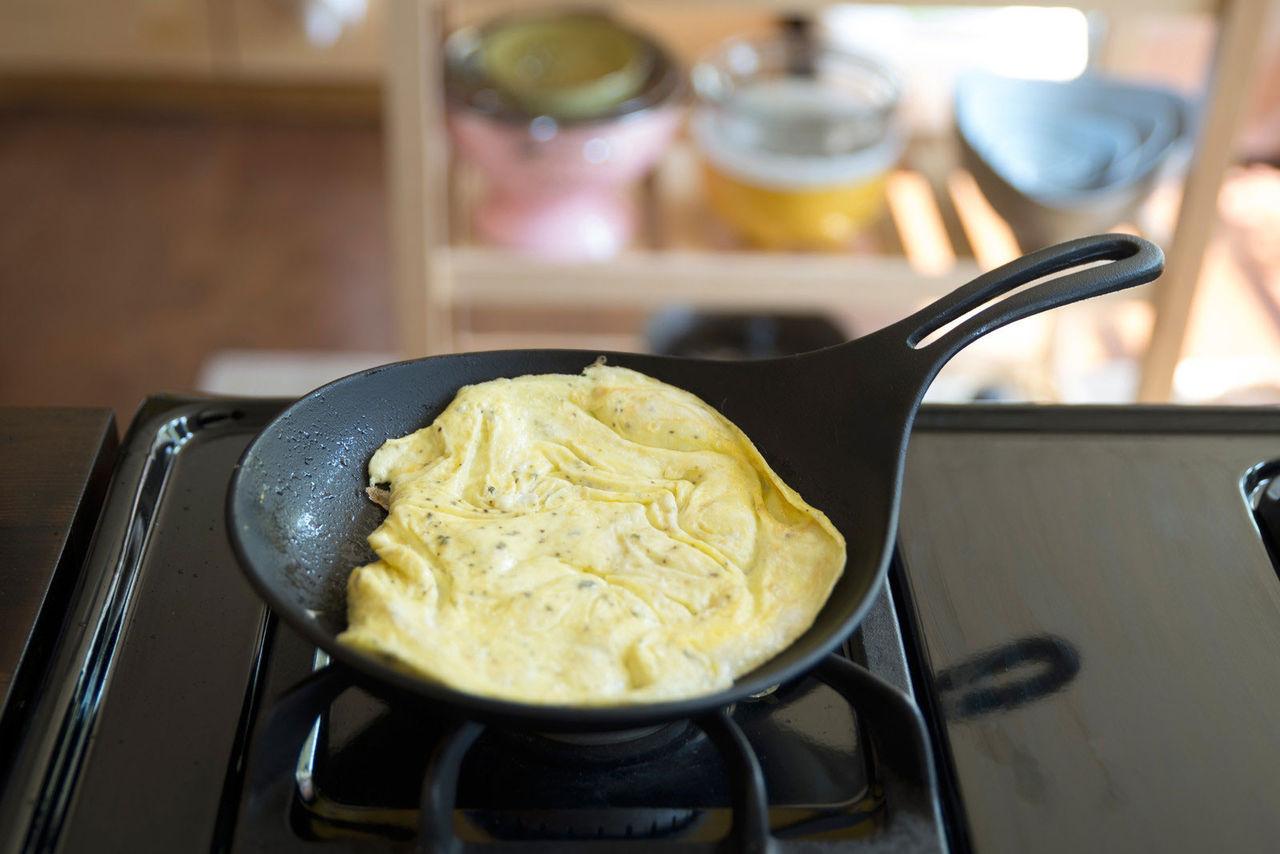 En fantastiskt vacker omelettpanna