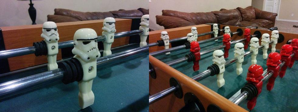 Stormtroopers som gubbarna i ett fotbollsspel