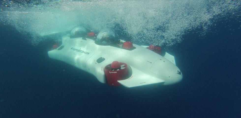 Deepflight Dragon är en miniubåt för två
