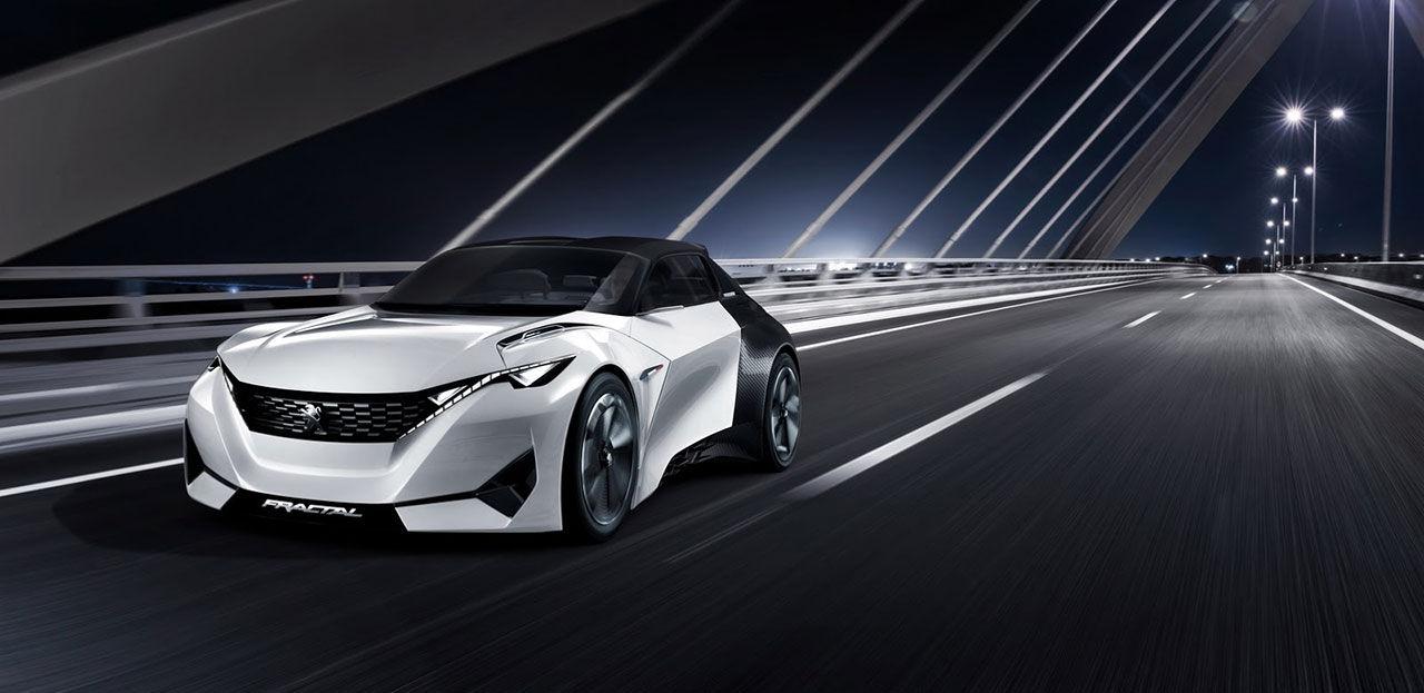 Fractal - skojig eldriven konceptbil från Peugeot
