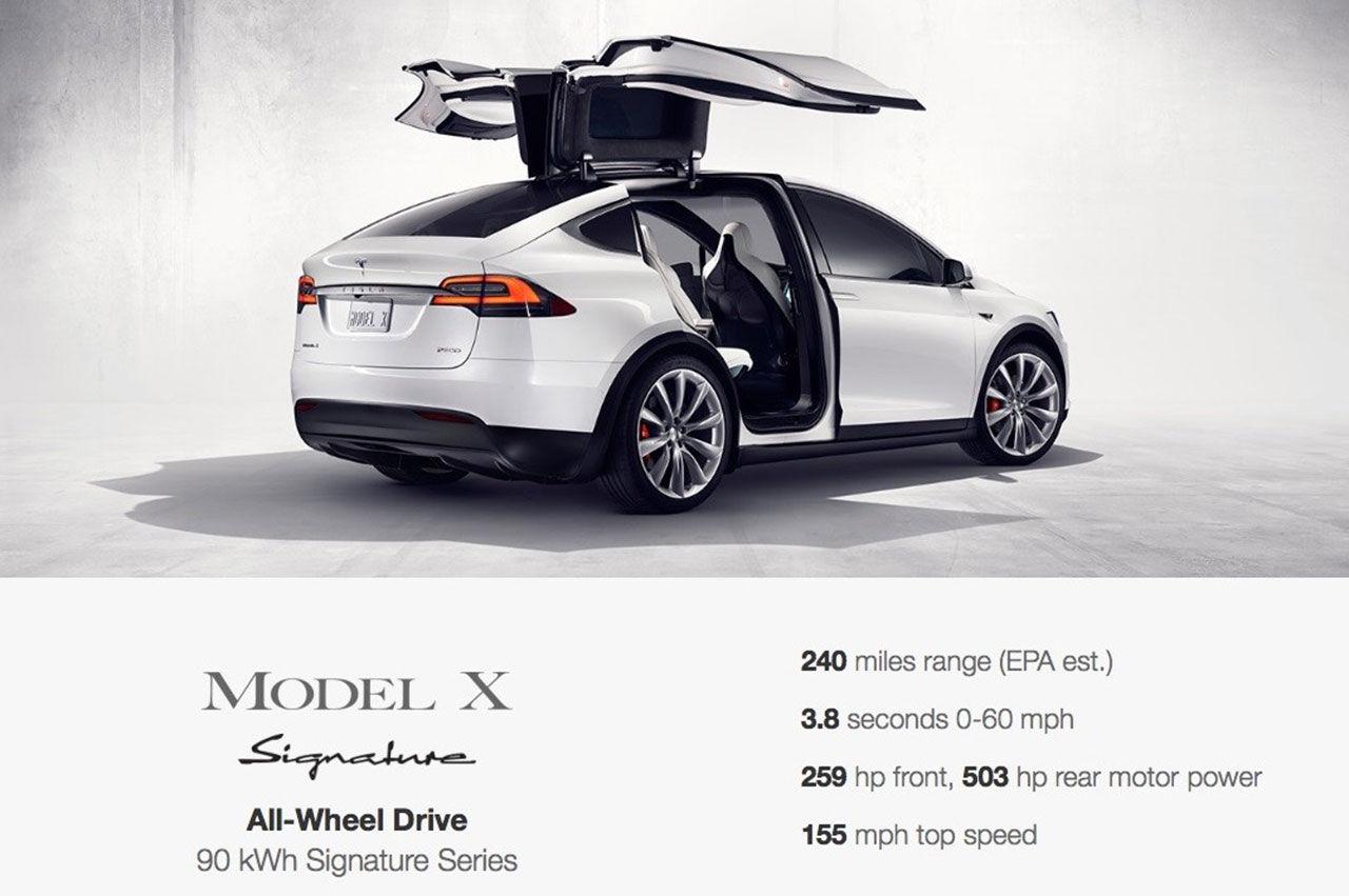 Konfiguratorn för Tesla Model X har öppnat