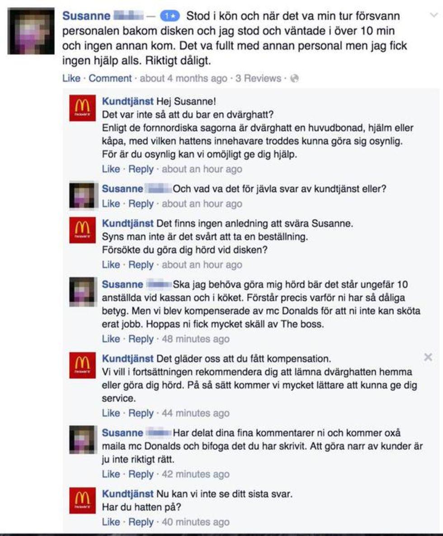 Falska kundtjänster trollar på Facebook
