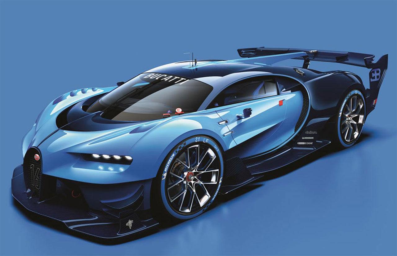 Bugatti visar ny bil till TV-spelet Gran Turismo