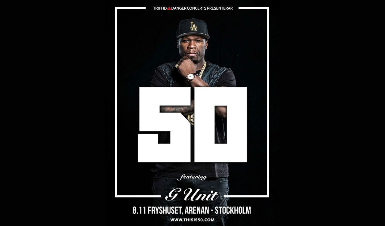 50 Cent uppträder i Stockholm i november