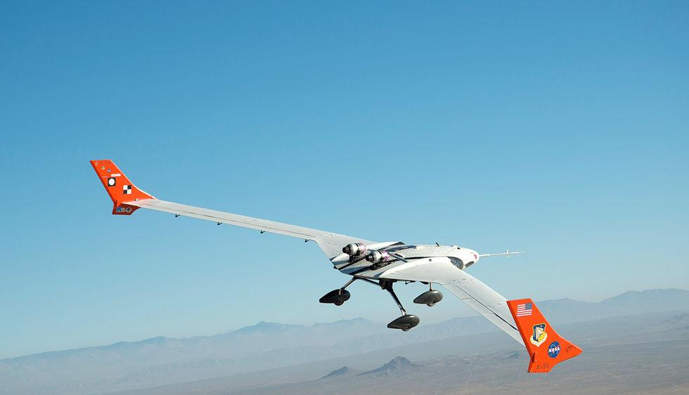 NASA testar teknik för lätta och flexibla flygplan