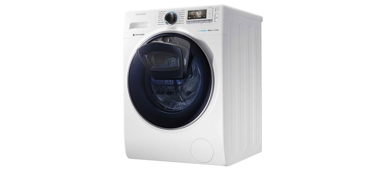 Tvättmaskin med dubbla dörrar