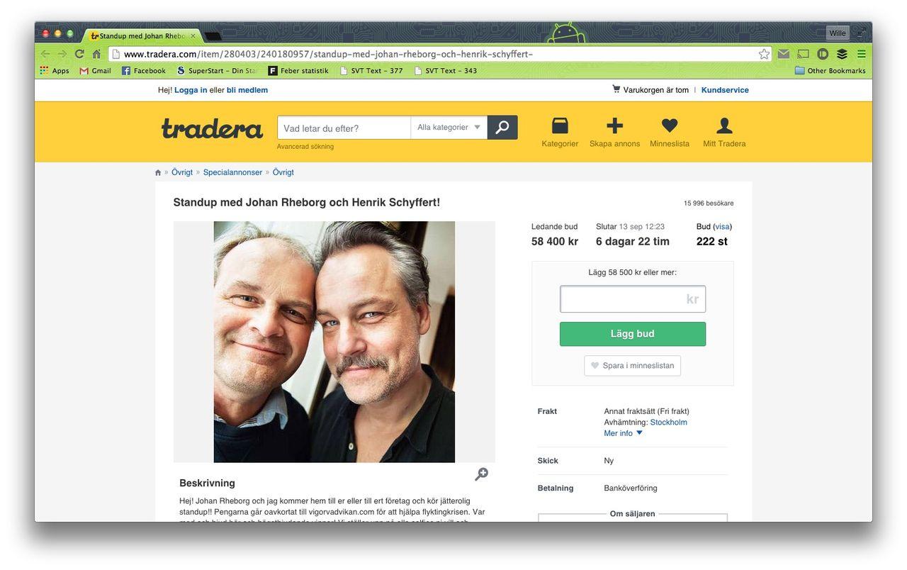 Buda hem Johan Rheborg och Henrik Schyffert
