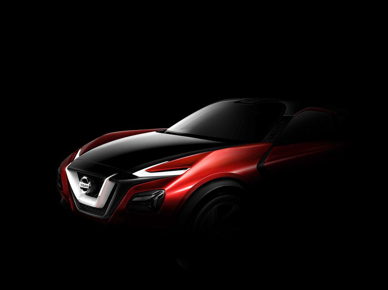 Nissan släpper teaserbild på crossover