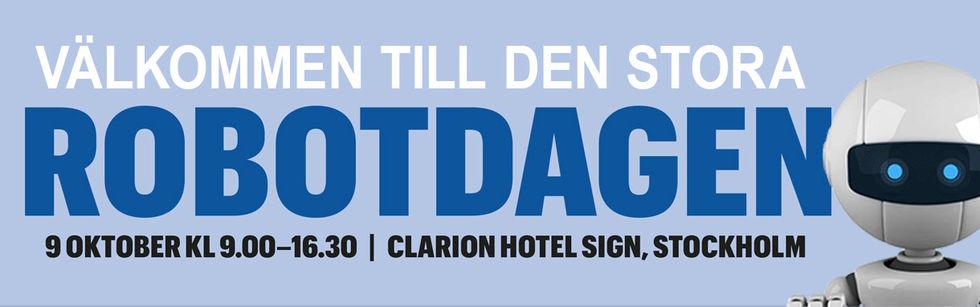Stora Robotdagen i Stockholm nästa månad