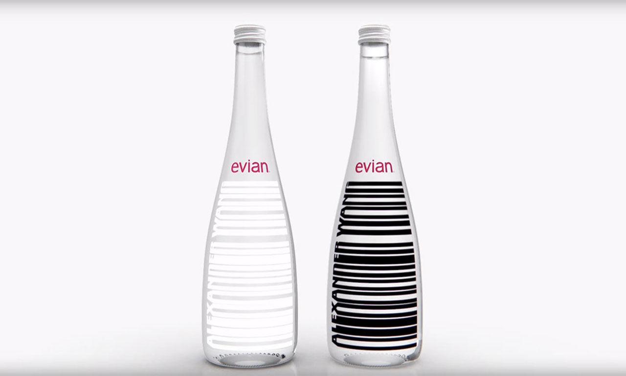 Evian gör vattenflaska med Alexander Wang
