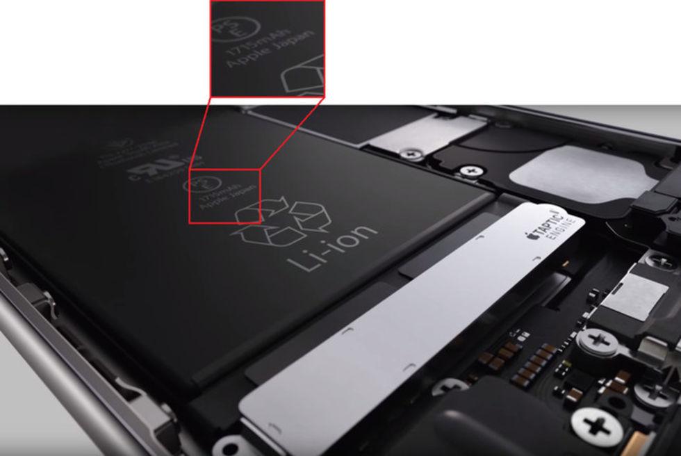 Mindre batteri i iPhone 6S än i iPhone 6