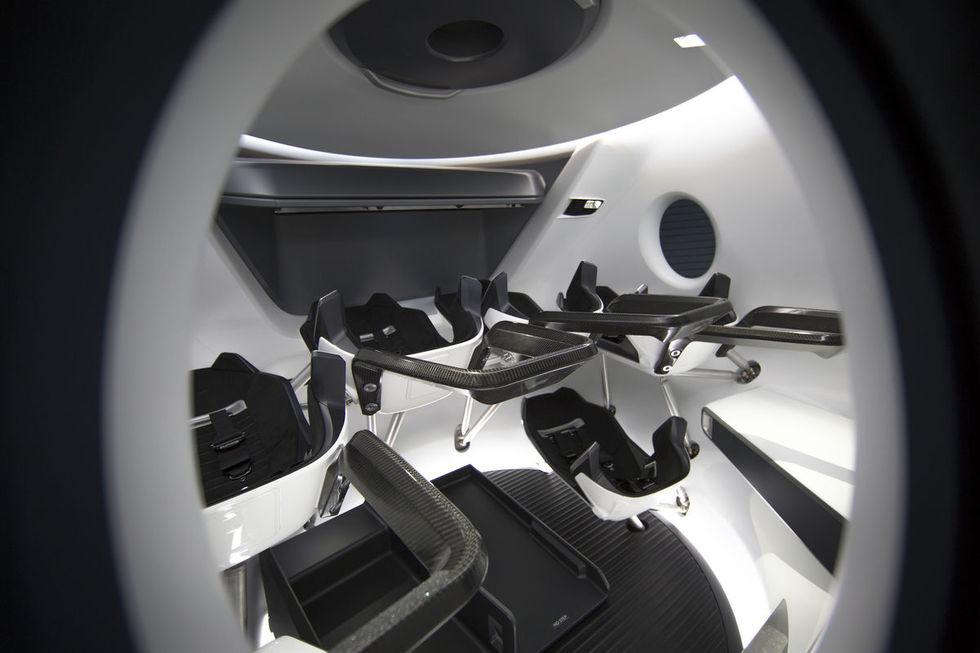 Så här kommer SpaceX Crew Dragons interiör att se ut