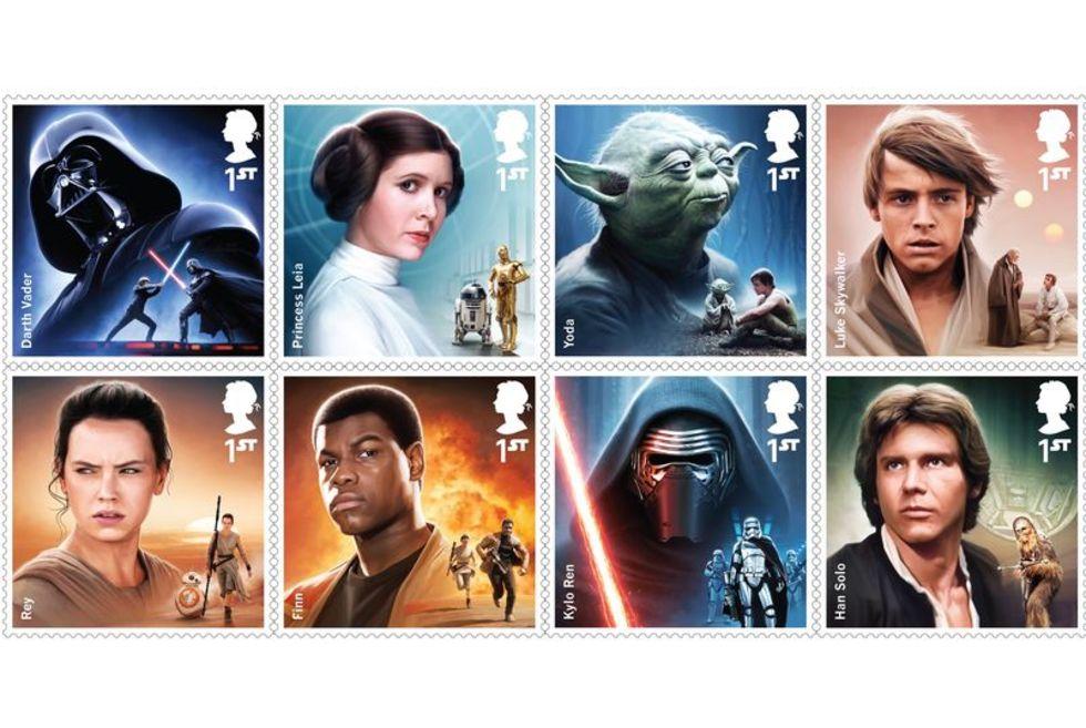 Storbritannien släpper Star Wars-frimärken