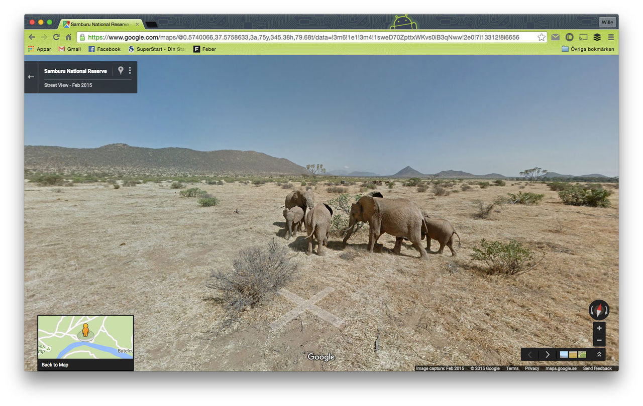 Kenyas nationalpark Samuburu nu på Google Maps Street View