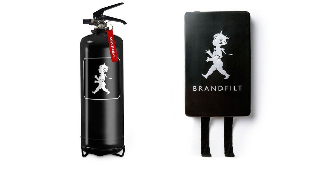 Nya brandsläckare och brandfiltar från Solstickan