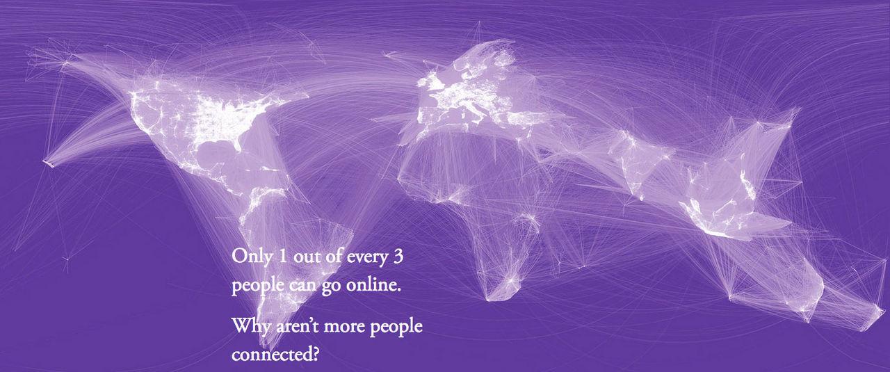 Fyra miljarder människor har inte internet