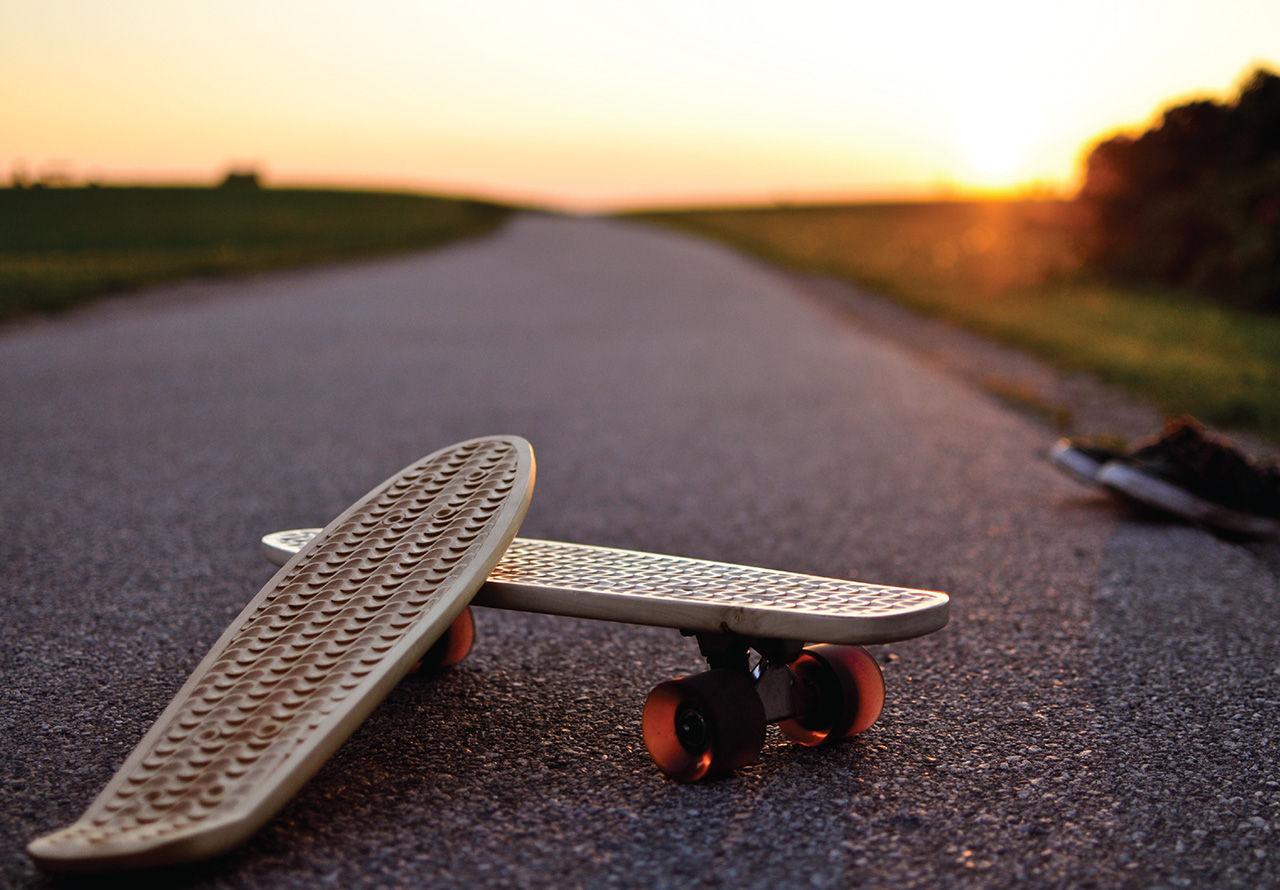 Handbyggda skateboards i trä