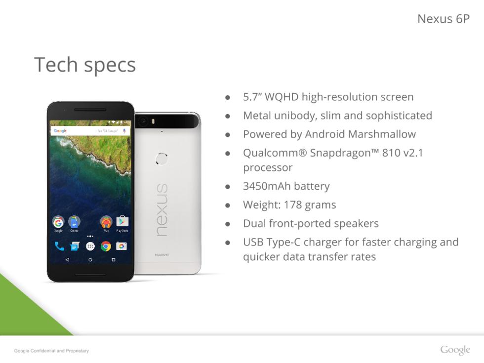 Google Nexus 6P-presentationen har läckt