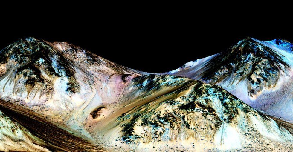 NASA har hittat flytande vatten på Mars