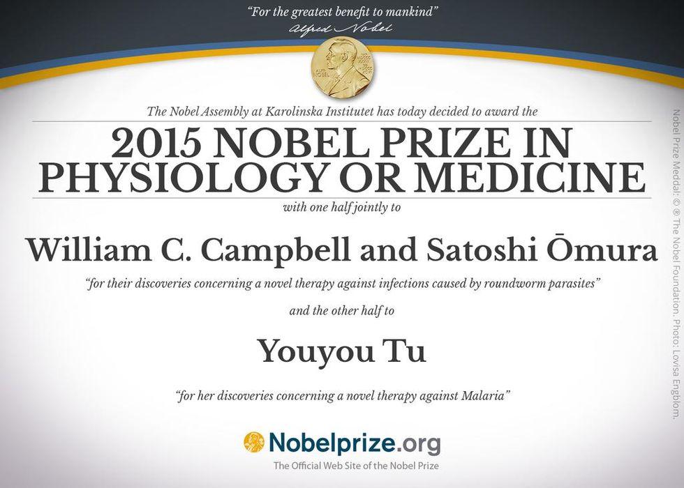 Tre personer får Nobelpriset i medicin