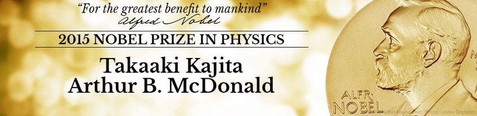 Takaaki Kajita och Arthur B. McDonald får Nobelpriset i fysik