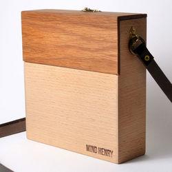 Den hållbara väskan. Mind Henry tillverkas av överblivet trä