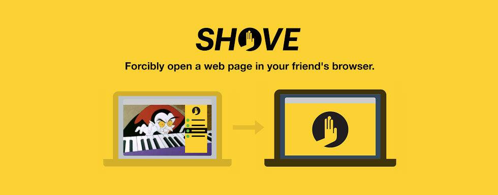 Öppna tabbar i dina vänner webbläsare med Shove