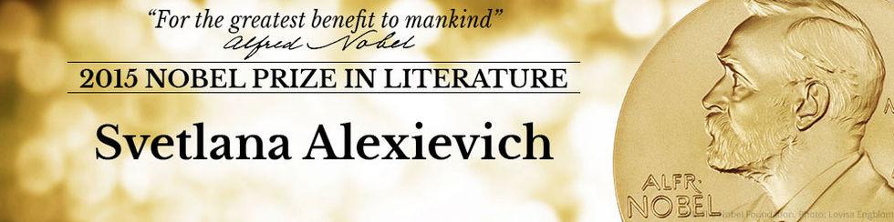 Svetlana Aleksijevitj får Nobelpriset i litteratur
